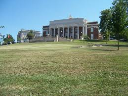 "This view of the WKU campus illustrates how one would have to be a ""Hilltopper to reach this pictured building."