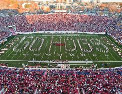 Arkansas Razorback Marching Band This spirit inducing group was first organized in 1874 as the Cadet Corps band and has evolved into one of the top bands in the country. The band hits the field with Red jackets, white pants, red and white hats with white plume