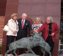 Fighting Razorback Statue Dedicated in 2007, this popular landmark is located at the steps of the Broyles Athletic Center
