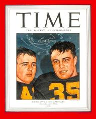 The dynamic duo of Glenn Davis and Doc Blanchard highlighted the cover of Time Magazine.