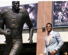 Auburn Heisman Trophy Statues A new activity for Football Saturdays will be to view the newly erected statues of the school's three Heisman Trophy winners. Fans can find the statues on the east end of Jordan-Hare Stadium. The statues were unveiled on April 14, 2012 during pregame celebrations before the university's A-Game. Pat Sullivan won the award in 1971, while Bo Jackson gained the honor in 1985 and Cam Newton hoisted the trophy in 2010.