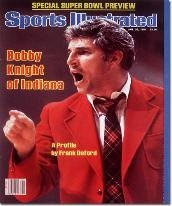 IU's Knight Bob Knight delivered a fiery disposition and 5 NCAA Championships while coaching the Hoosiers