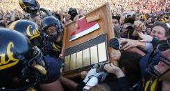 "Beating Stanford Gaining possession of the ""Stanford Axe"" is a constant goal of the Golden Bears"