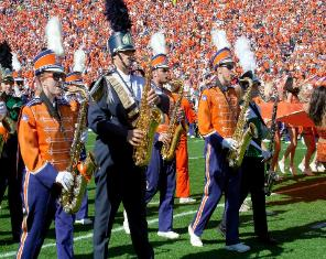 The Clemson Tiger Marching Band The Tiger Band has been representing the school