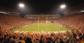Home of the Tigers It's actually called Clemson's Memorial Stadium, but it's affectionately known as Death Valley. This 80,000+ seat stadium is one of the loudest and most daunting venues in college football.