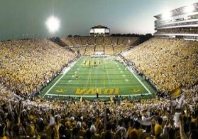 Iowa's Nile Kinnick Stadium This facility was renovated in 2006 and now seats 70,585 fans