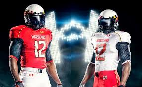 Maryland Football Uniforms With the state flag and other unique features incorporated into Maryland football uniforms, there is no doubt that the Terps are trend setters when it comes to their Under Armour football gear.
