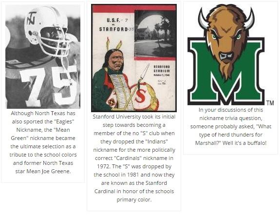 college nicknames