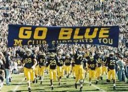 The Big House rocks when Big Blue makes their entrance into the stadium.