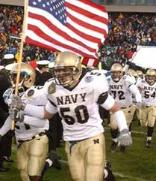 Navy players display their patriotism on and off the field