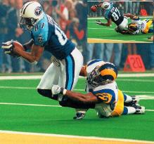 The Longest Yard The Tennessee Titans came within a yard of sending their Super Bowl XXXIV contest against the Rams to overtime.