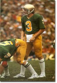 "Joe Montana was the Notre Dame QB for the ""Green Jersey Game."""