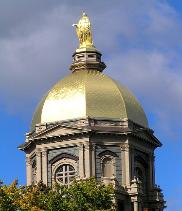 The Golden Dome This landmark has gleamed since 1882. Sitting atop the dome is a 19-foot-tall, 4,000-pound statue of Mary, the Mother of God.