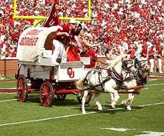 Oklahoma Sooners Circling the Wagons When it comes to celebrating the pageantry of Oklahoma Sooners football, it's important to keep Sooners spirits rollin' rollin' rollin'