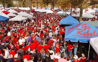 "Tailgating in the Grove (See the Video) One of college football's top spots is ""The Grove"" which is located at the center of the University of Mississippi's campus. The long established tradition of tailgating in the shade provided by a collection of magnolia, oak and elm trees grew strong in the 1950s."