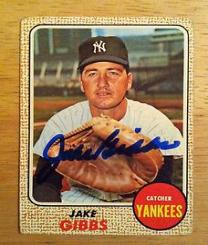 This Rebel became a Yankee Jake Gibbs played catcher for the NY Yankees for a decade before eventually giving way to Thurmond Munson.