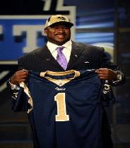 Orlando Pace became the first Buckeye to be selected first in the NFL Draft when the Rams picked him in 1997.