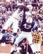 NFL TD Leader Paul Warfield led the NFL in receiving TD's in 1968 with Cleveland (12) and 1971 as a Dolphin (11).