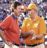 "The Spurrier vs. Fulmer coaching rivalry added fuel to the rivalry's fire. Vols fans were enraged when Spurrier said you couldn't sell ""Citrus"" Bowl without UT."