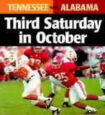 "ESPN's Beano Cook once said about this rivalry, ""Don't get married on the third Saturday in October and try not to die. If you do, the preacher might not show up."""