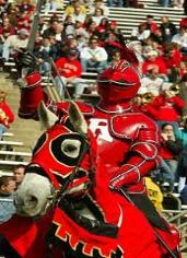 "Knighted in 1955 This Rutgers mascot represented a new era of ""first class football"" when he took the field on the back of a spirited white charger."