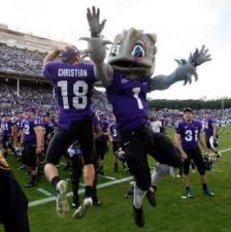 "Things are always 'Hoppin'"" on the TCU sidelines when Super Frog is near"