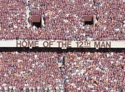 The University proudly displays it 12th Man Tradition at Kyle Field.