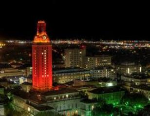 The Lighting of the University's Main Tower Fans know that looking at this campus landmark is a great way to measure the success of the football program. The tower's top is lit orange after a conference win and the entire tower is lit for a conference championship. For a national title, the tower is lit up in orange and also features a No. 1.