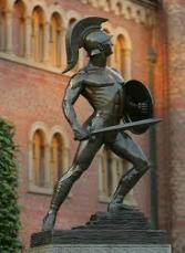 Must See Landmark The Tommy Trojan statue is a source of great pride at the University and is also targeted by rivals