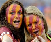 Hokie fans love to show off their love for the Orange and Maroon!