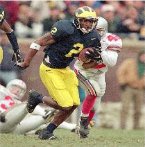 Charles Woodson became the first primarily defensive player to win the Heisman Trophy